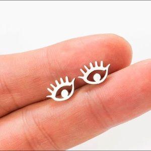 Stainless Steel Eye Stud Earrings